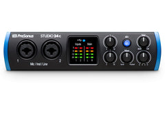 PreSonus Studio 24C 2X2 USB-C 24-bit/192kHz with 2 Mic Inputs Audio Interface