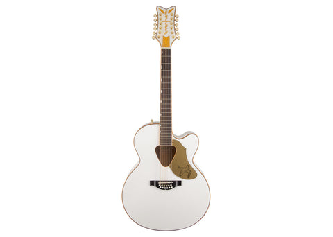 Gretsch G5022CWFE-12 Rancher Acoustic Guitar - White/Rosewood - 2714025505
