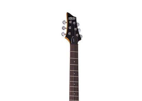 Schecter C-6 Plus LH Electric Guitar - Rosewood/Charcoal Burst - 448