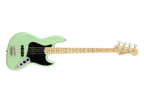 Fender American Performer Jazz Bass Guitar - Maple/Satin Surf Green - 0198612357