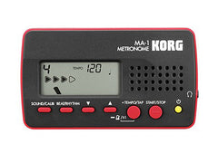 Korg MA-1 Metronome Tuner Black/Red - Clearance
