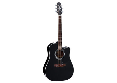 Takamine Pro Series Dreadnought Acoustic Guitar w/ Hardshell Case - Gloss Black/Rosewood - EF341SC DEMO