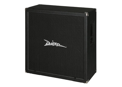 "Diezel 4x12"" Front Loaded Cabinet Celestion G12K-100 - Black Grille Cloth - Silver Piping"