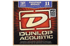 Dunlop Phosphor Bronze Acoustic Guitar Strings Medium Light Gauge 11-52 Demo