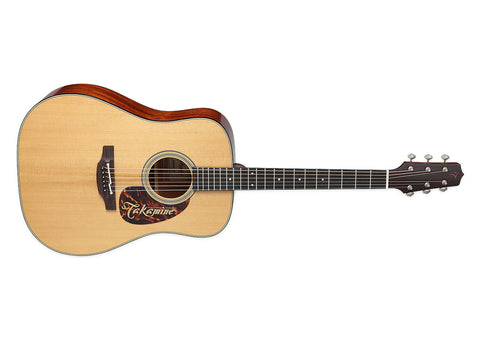 Takamine Guitars Dreadnought Acoustic Guitar w/case - Ebony/Natural Gloss Finish - EF340S TT