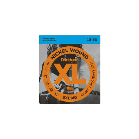 D'Addario EXL140 Nickel Wound Electric Guitar Strings Light Top/Heavy Bottom 10-52 Clearance