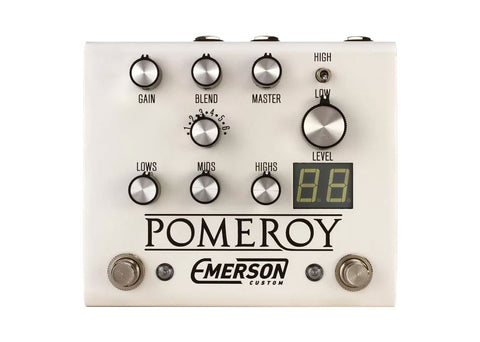 Emerson Custom Pomeroy Boost, Overdrive & Distortion - White