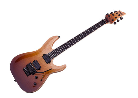 Schecter C-1 FR SLS Elite Electric Guitar - Antique Fade Burst/Ebony - 1352