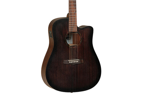 Tanglewood Crossroads Acoustic Guitar - Whiskey Barrel Burst Satin/Rosewood - TWCRDCE
