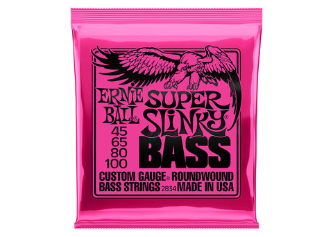 Ernie Ball 2834 Super Slinky Electric Bass 4 String Set 45-100