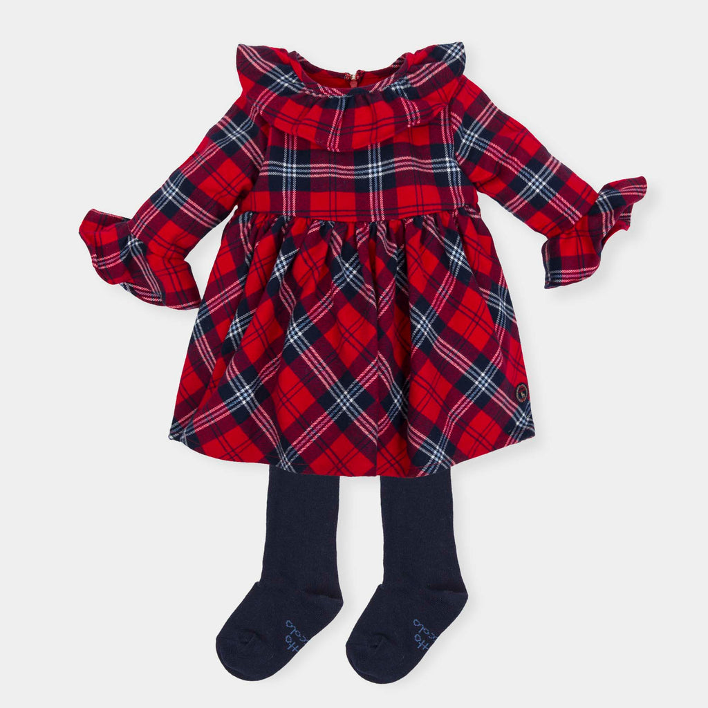 Pre Order Tutto Piccolo 5232 Red Tartan Dress