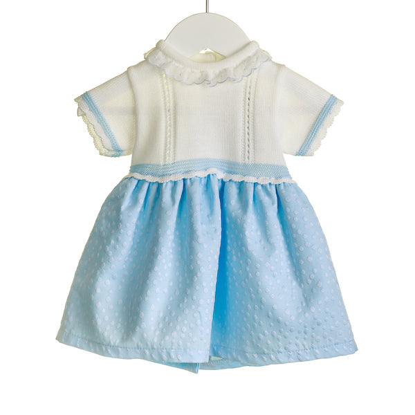 Blues Baby NN0340 Girls Blue Knit Dress
