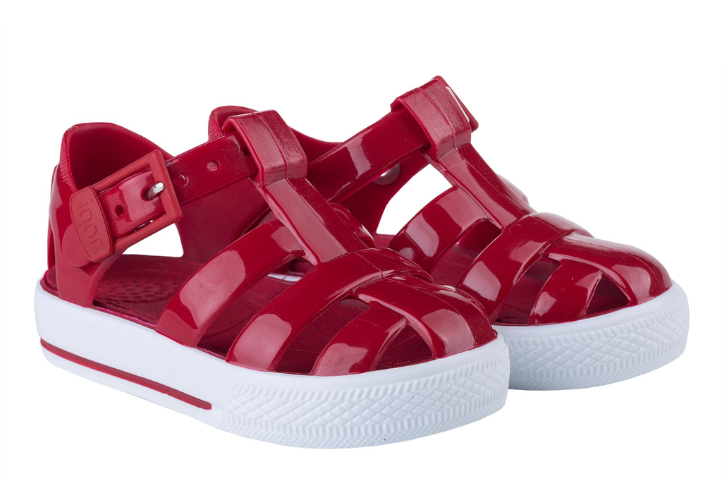 Pre Order Igor Red Tenis Jelly Sandals