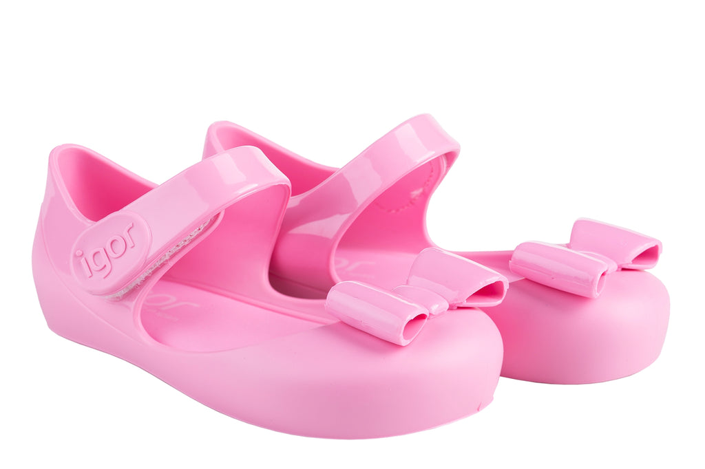 Igor Mia Pink Bow Jelly Sandals