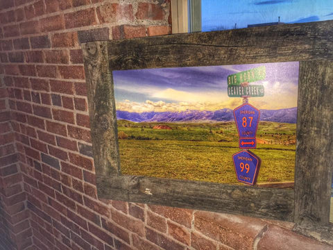 Big Horn x Beaver Creek Print - Barn Wood Frame