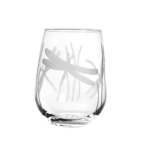 Dragonfly Stemless Wine Tumbler 17oz (Set of 4)