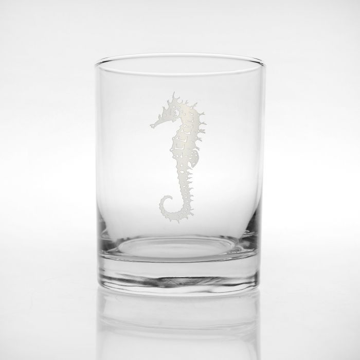 Seahorse Double Old Fashioned 14oz (Set of 4)