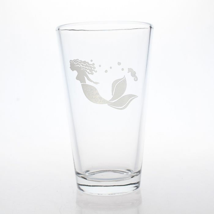 Mermaid Pint Glass 16oz (Set of 4)
