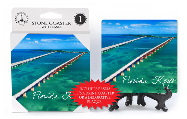 Florida Keys Stone Coaster with Easel