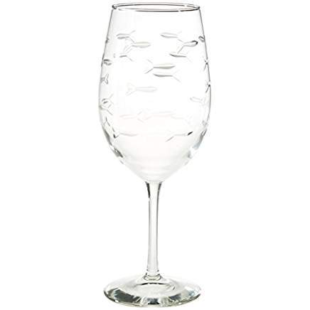 School of Fish All Purpose Large Wine Glass 18oz (Set of 4)