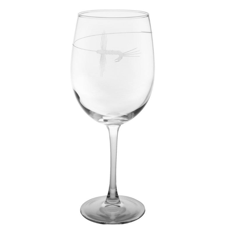 Fly Fishing All Purpose Wine Glass 18oz (Set of 4)