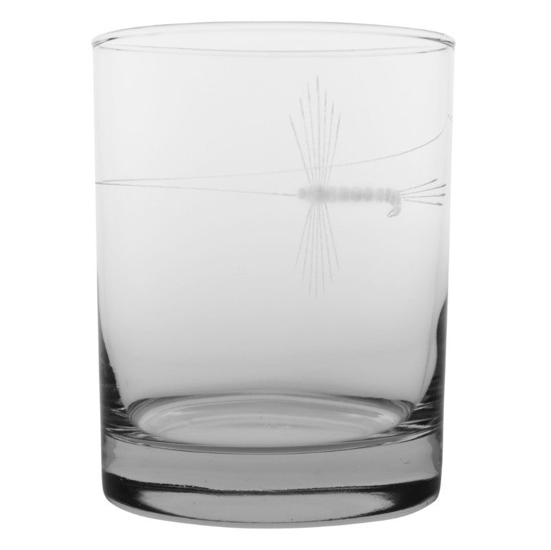 Fly Fishing Double Old Fashioned 14oz (Set of 4)