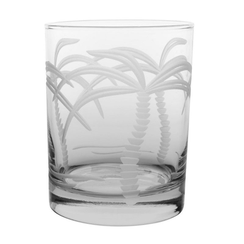 Palm Tree Double Old Fashioned 14oz (Set of 4)