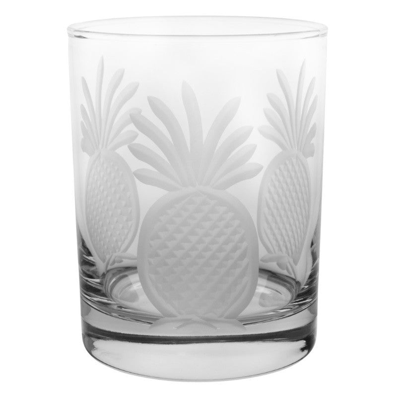 Pineapple Double Old Fashioned 14oz (Set of 4)