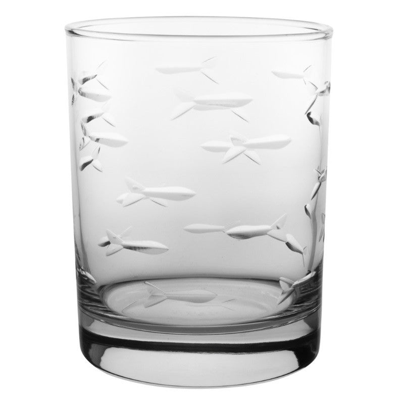 School of Fish Double Old Fashioned 14oz (Set of 4)