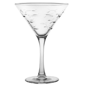 School of Fish Martini Glass 10oz (Set of 4)