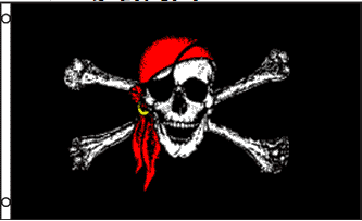 Pirate Jolly Roger Flag 3x5ft