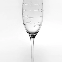 School of Fish Champagne Flute 8oz (Set of 4)