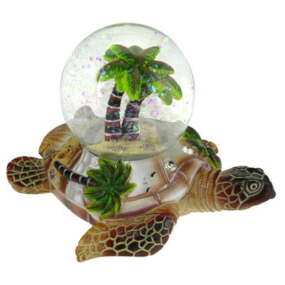 Palm Turtle Snow Globe 45mm