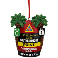 Key West Buoy Palms Ornament