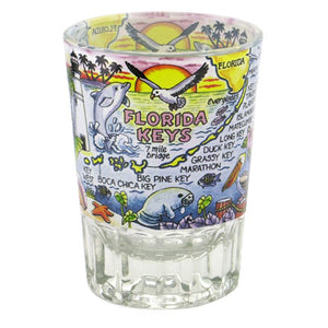 Florida Keys Double Shot Glass 3oz