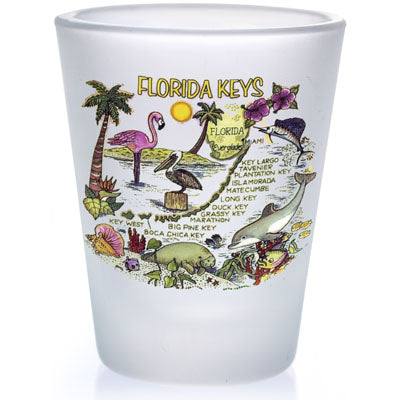 Florida Keys Map Shot Glass