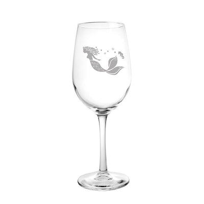 Mermaid White Wine Glass 12oz (Set of 4)