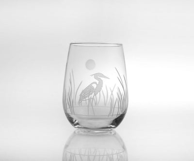 Heron Stemless Wine Tumbler 17oz (Set of 4)