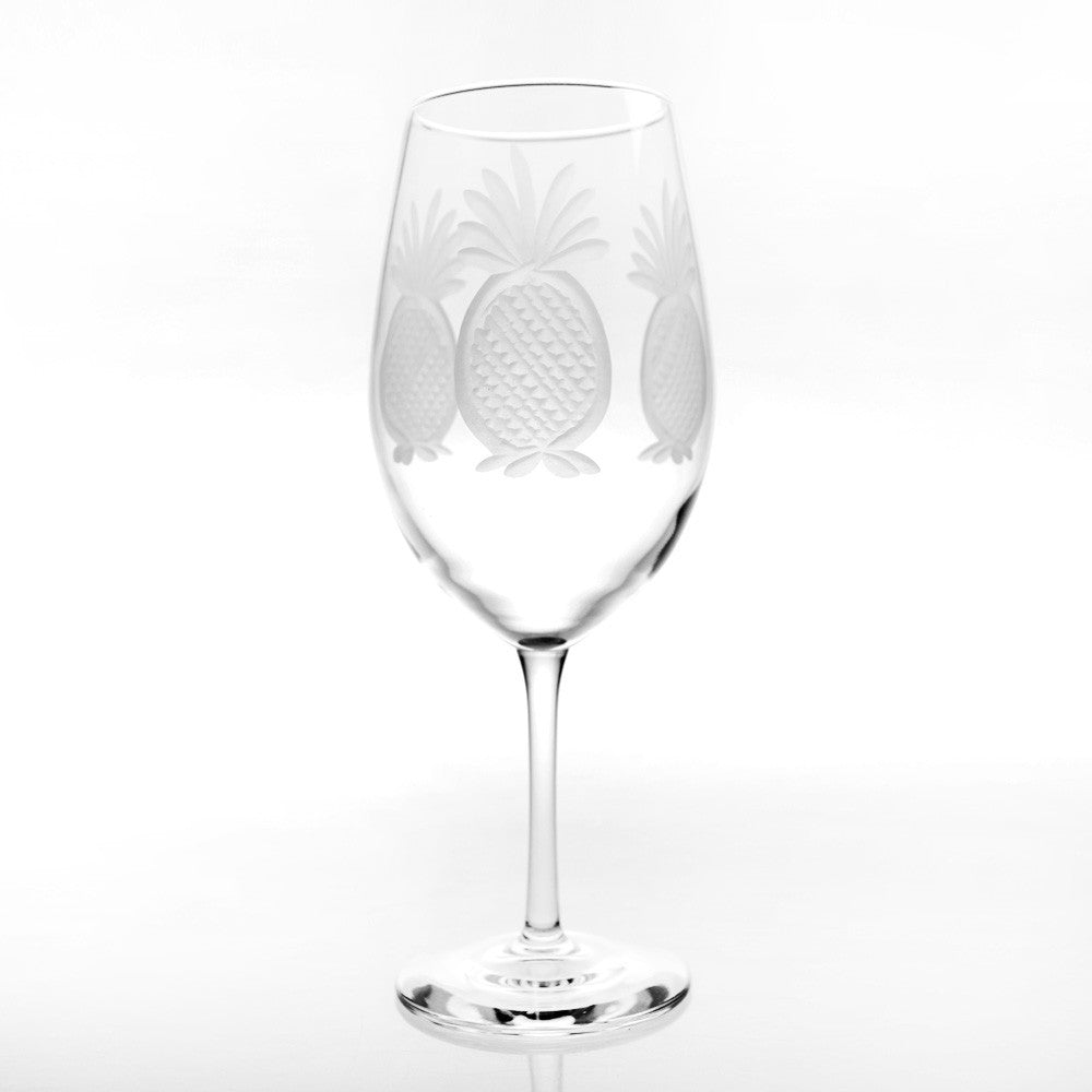 Pineapple All Purpose Large Wine Glass 18oz (Set of 4)