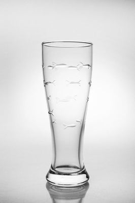 School of Fish Pilsner Glass 16oz (Set of 4)