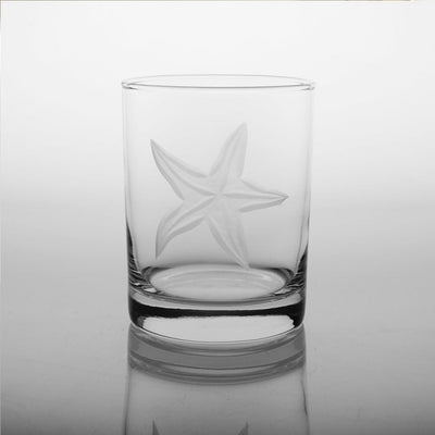 Starfish Double Old Fashioned 14oz (Set of 4)