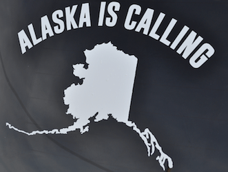 Alaska Is Calling Window Decal
