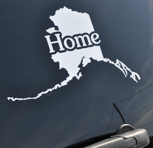 Alaska Home Window Sticker