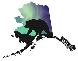 Aurora Bear Window Decal