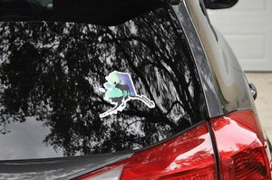 Aurora Moose Window Decal