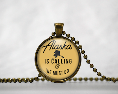 Alaska Is Calling | Gold Background