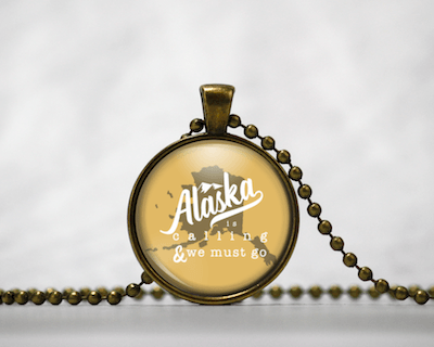 Alaska Is Calling | White & Gold