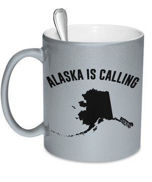 Alaska Is Calling | Metallic Colored Mugs