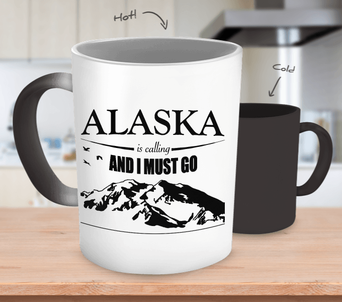 Alaska Is Calling Color Changing Mug