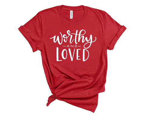 Worthy & Loved T-Shirt-Red